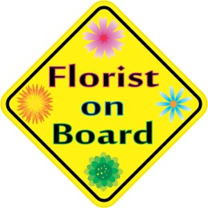 Florist on Board Magnet