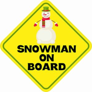 Snowman On Board Magnet