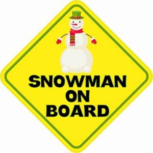 Snowman On Board Magnet