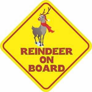 Reindeer On Board Sticker