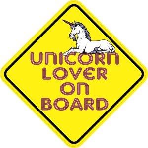 Unicorn Lover On Board Sticker