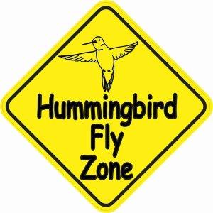 Hummingbird Fly Zone Sticker