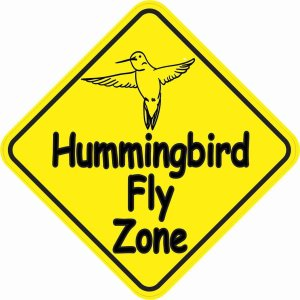 Hummingbird Fly Zone Sticker