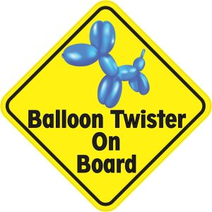 Balloon Twister On Board Sticker