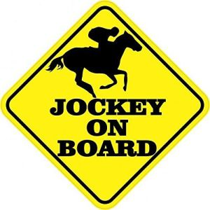 Jockey On Board Magnet
