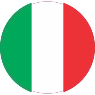 Italian flag sticker