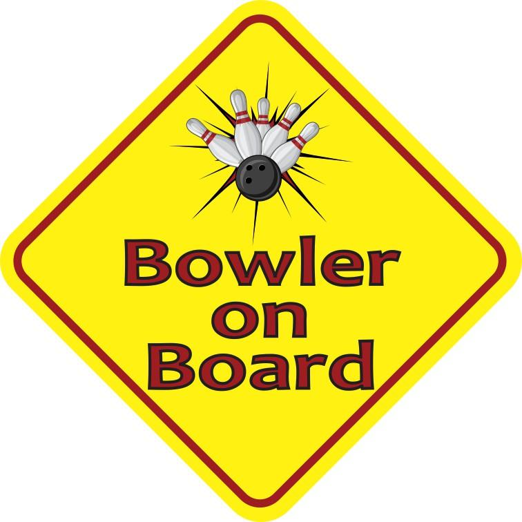 Bowler on Board Magnet