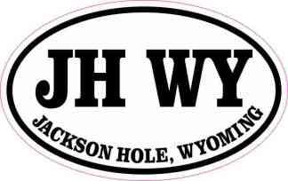 Oval Jackson Hole Wyoming Sticker