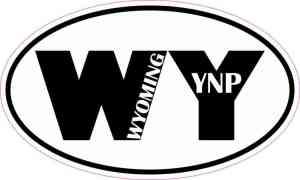 Oval WY Wyoming YNP Sticker
