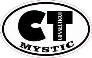 Oval CT Mystic Connecticut Sticker