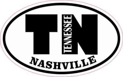 Oval TN Nashville Tennessee Sticker