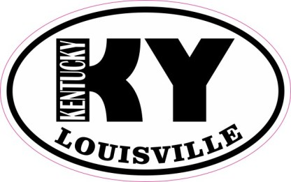Oval KY Louisville Kentucky Sticker