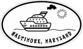 Cruise Ship Oval Baltimore Sticker
