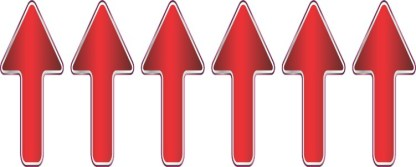 Red Gradient Arrow Stickers
