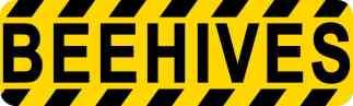 Beehives Permanent Vinyl Sticker