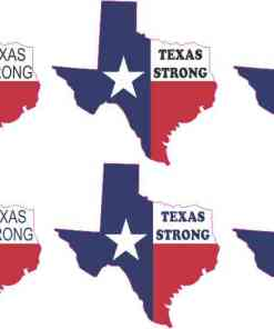 Texas Strong Permanent Vinyl Stickers