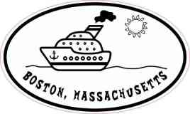Cruise Ship Oval Boston Sticker