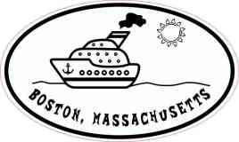 Cruise Ship Oval Boston Sticker