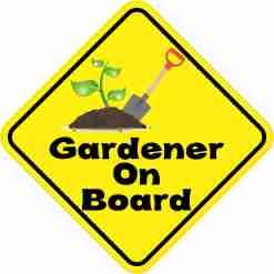 Gardener On Board Sticker