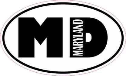Oval MD Maryland Sticker