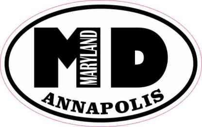 Oval MD Annapolis Maryland Sticker
