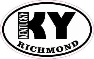Oval KY Richmond Kentucky Sticker
