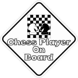 Chess Player On Board Sticker
