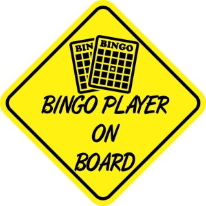 Bingo Player On Board Magnet