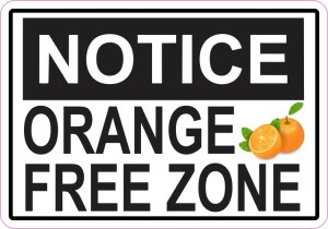 Orange Free Zone Sticker