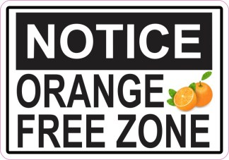 Orange Free Zone Sticker