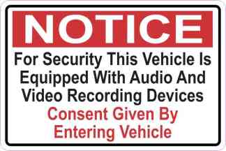 Audio And Video Recording Consent Sticker