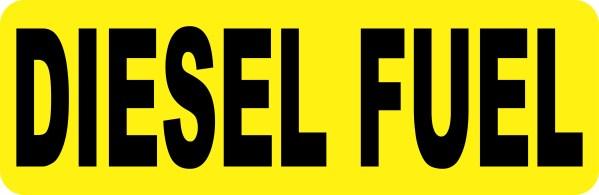 Diesel Fuel Sticker