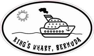 Cruise Ship Oval King's Wharf Sticker
