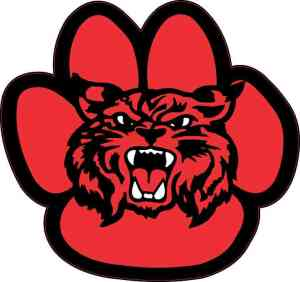 Red Wildcat Paw Sticker