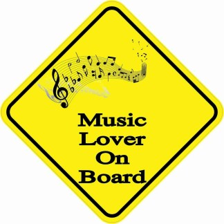 Music Lover On Board Magnet