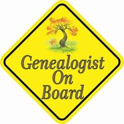 Genealogist On Board Magnet