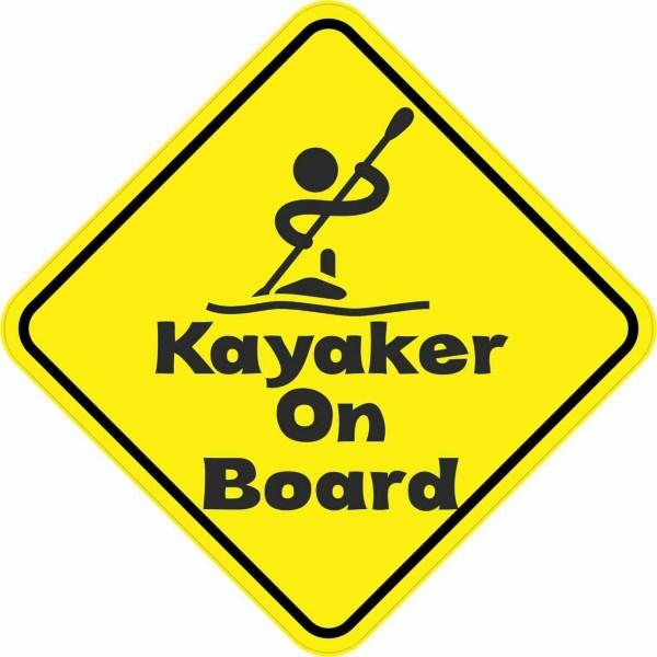 Kayaker On Board Magnet