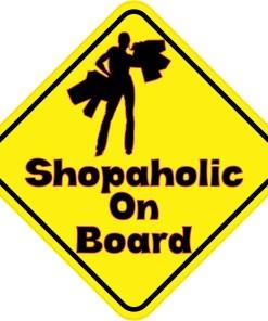 Shopaholic On Board Magnet