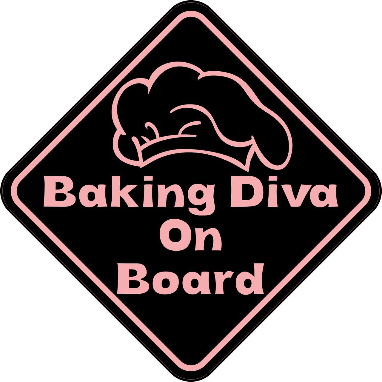 Baking Diva On Board Magnet