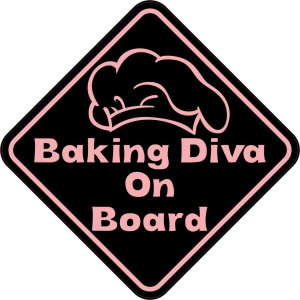 Baking Diva On Board Sticker