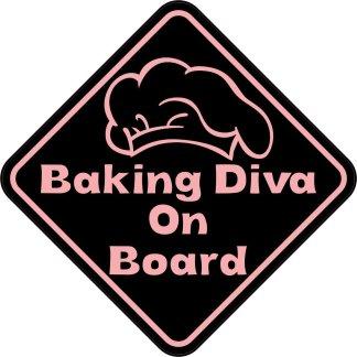 Baking Diva On Board Magnet
