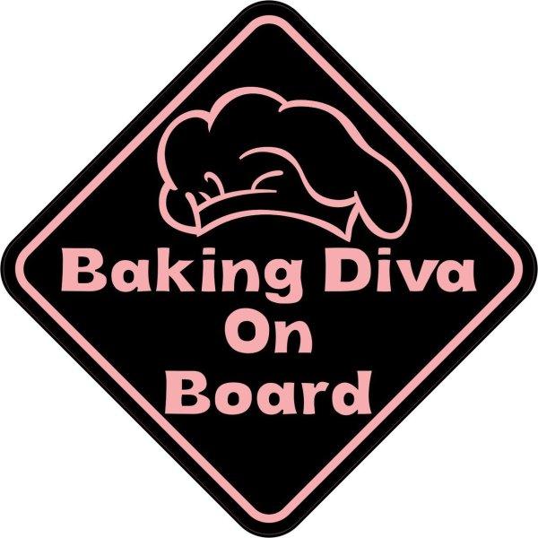 Baking Diva On Board Sticker