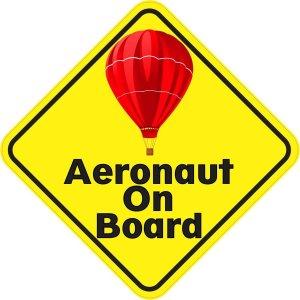 Red Aeronaut On Board Magnet
