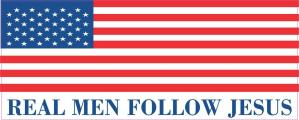 Real Men Follow Jesus Bumper Sticker