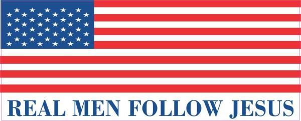 Real Men Follow Jesus Magnet