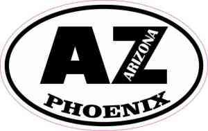 Oval AZ Phoenix Arizona Sticker