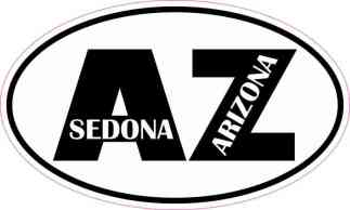 Oval AZ Sedona Arizona Sticker