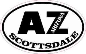 Oval AZ Scottsdale Arizona Sticker