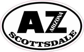 Oval AZ Scottsdale Arizona Sticker