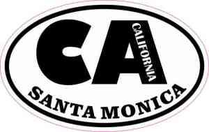 Oval CA Santa Monica California Sticker